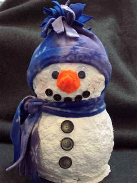 How To Make Paper Mache Snowman - paper mach snowman craft easy craft project