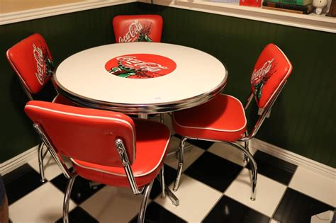 Coca Cola Table And Chairs by Quot Coca Cola Quot Retro Style Table 4 Chairs