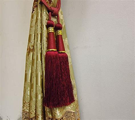 burgundy curtain tie backs airdodo elegant european style burgundy dual head curtain