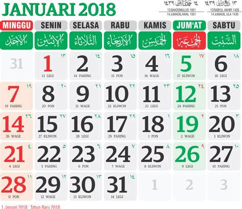 Kalender 2018 Beserta Kalender Jawa Kalender 2018 Beserta Hari Libur 28 Images Kalender