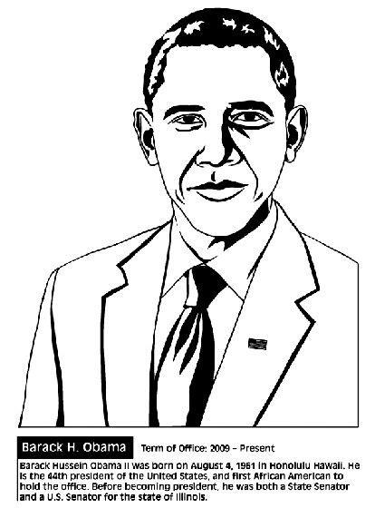 barack obama biography fact sheet u s president barack obama coloring page teaching