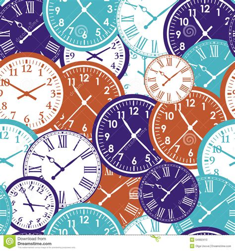 html pattern for time clock face stopwatch pattern cartoon vector
