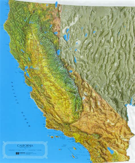 california map relief california state raised relief map ncr color