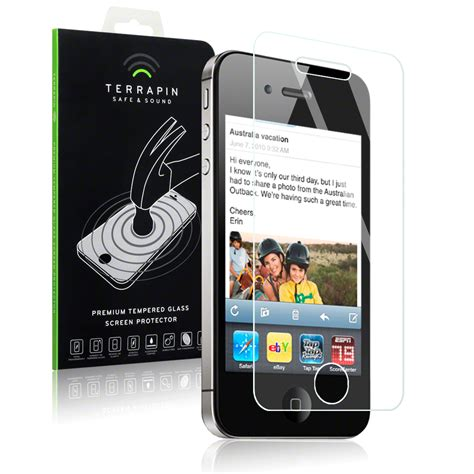 Tempered Glass Buat Iphone 4 tempered glass screen protector for iphone 4 4s ebay