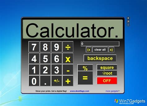 calculator for windows big calc windows 7 desktop gadget