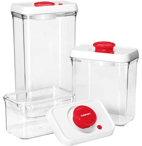 Vacuum Sealed Food Shelf by Cuisinart Fresh Edge 6 Vacuum Sealed Food Storage