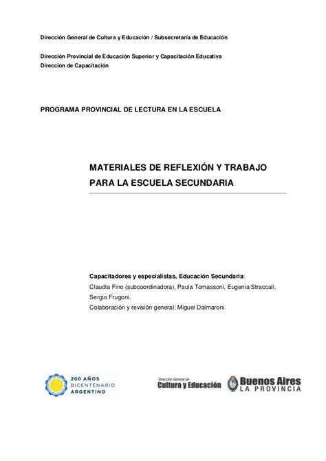 preguntas de cultura general argentina faciles materiales de reflexi 211 n y trabajo para la escuela secundaria