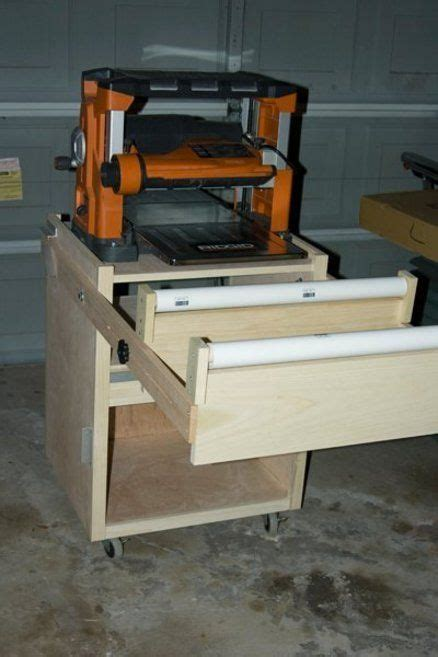 roller stands for woodworking shopnotes rolling planer stand with pvc outfeed roller