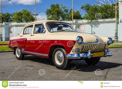Russisches Auto seltene sowjetische russische auto volga sechziger jahre
