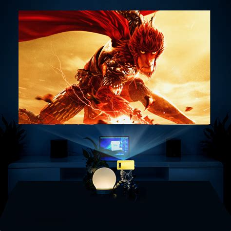 Proyektor Yg 300 yg 300 lcd mini 1080p portable led projector home cinema equipment us yellow white tmart