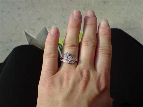 how to wear engagement ring and wedding band together 17 engagement rings pinterest