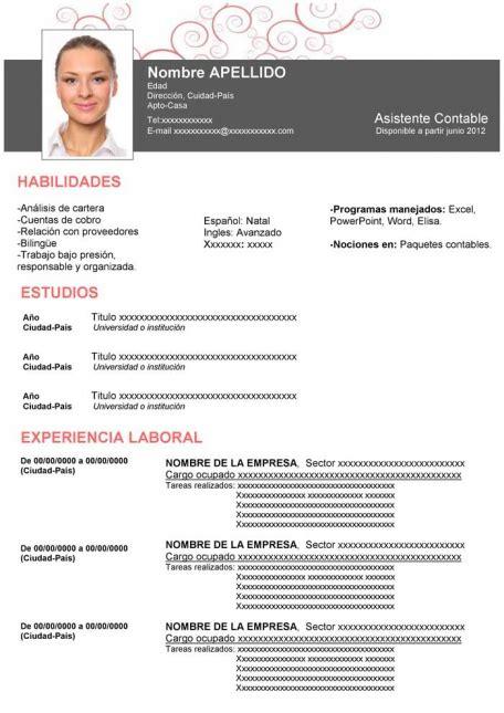 Plantillas De Curriculum Vitae Para Recien Egresados ejemplo de curriculo original para descargar gratis en espa 241 ol