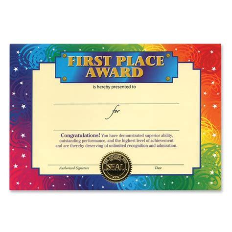 1st Place Certificate Template   BestSellerBookDB