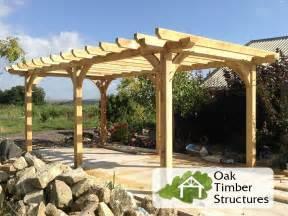 Oak Pergola by Solid Oak Pergolas Oak Timber Structures