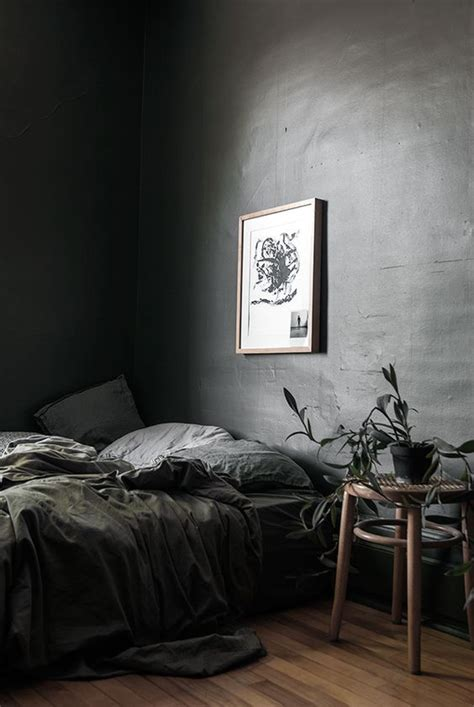 Gray Bedroom Curtains Decorating Grey Moody Bedroom With Organic Decor Digsdigs Furniture A Something On The Side
