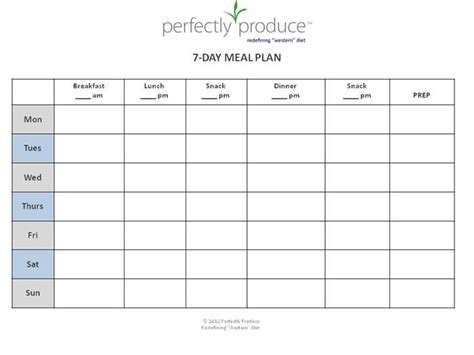 Printable Diet Plan Template | 78 best images about meal plan on pinterest weekly meal