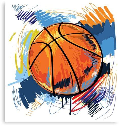 basketball graffiti art canvas print  lovingangela