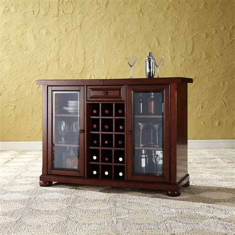 sliding top bar cabinet alexandria sliding top bar cabinet vintage mahogany
