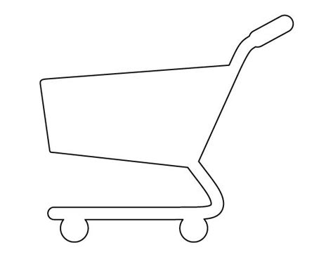shopping cart pattern use the printable outline for