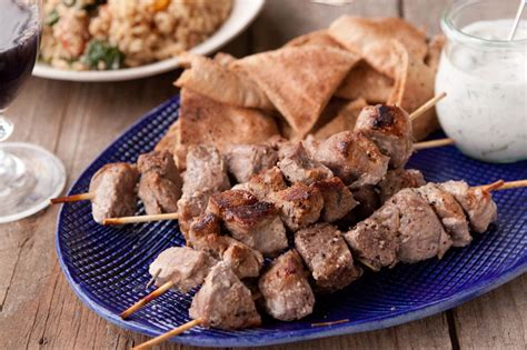 lamb kebabs yogurt marinated lamb kebabs with tzatziki
