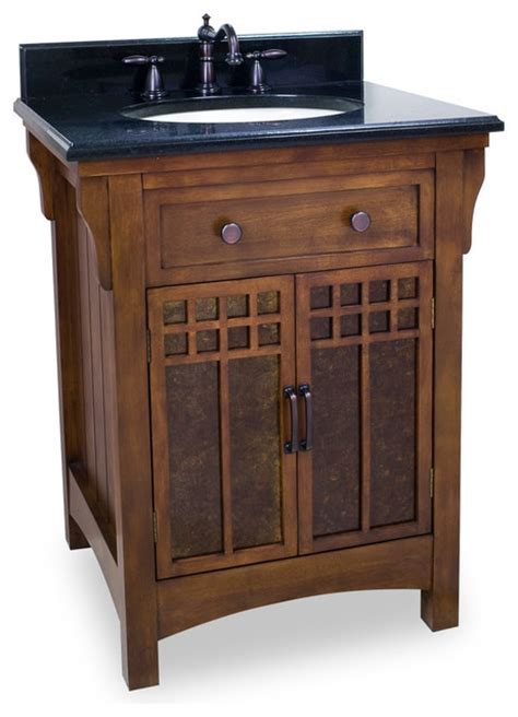craftsman style bathroom vanity lyn design van037 t wood vanity black granite top