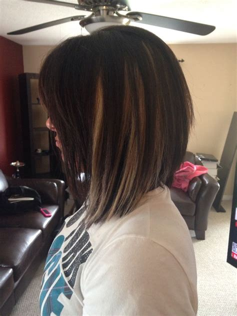 bob hairstyle with peek a boo highlights chunky peekaboo blonde with angled bob love creating new