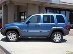 atlantic blue pearl 2003 jeep liberty sport 4x4 exterior