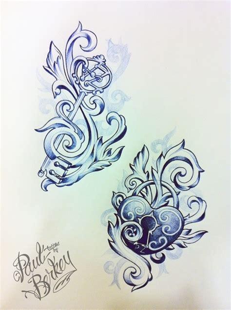 hidden initial tattoo designs lock and key tattoos with initials i it