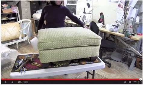 how to reupholster a pillow top ottoman how to reupholster a pillowtop ottoman slipcovers sewn