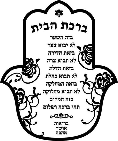 Yiddish Wedding Blessing by Home Blessing Birkat Habayit Hebrew By