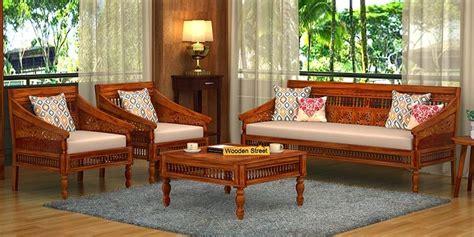 wooden sofa set buy wooden sofa set   india upto
