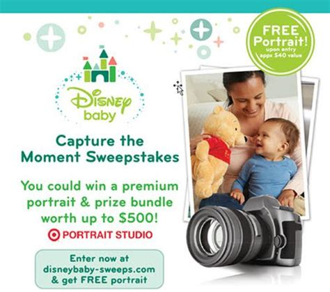 Free Baby Sweepstakes - disney baby enter disney baby capture the moment sweepstakes and free 8 215 10 portrait