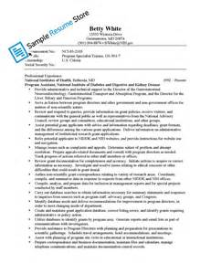 Community Health Sle Resume by Health Sle Resume Sle Resume Store Shop Sle Resumes By Industry