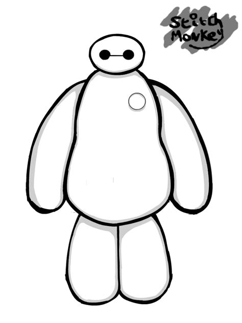 baymax wallpaper black and white baymax doodle big hero 6 by stitchmonkey on deviantart