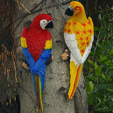 parrot home decor 31 10 8cm big size resin parrot wall hanging decoration