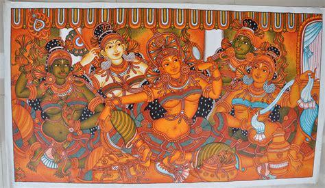Painted Wall Murals Nature kerala mural bhavammurals