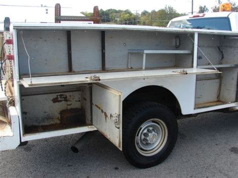 stahl utility bed sell used low miles 98k fleet maintained runs great 9ft