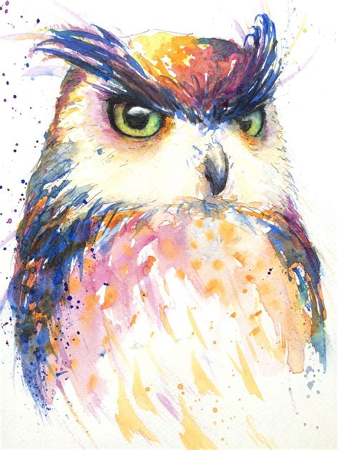 colorful owl nancy antoni colourful owl artists illustrators