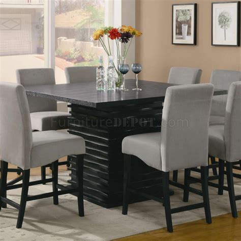 Stanton Counter Height Dining Table In Black Coaster W Dining Room Table Sets