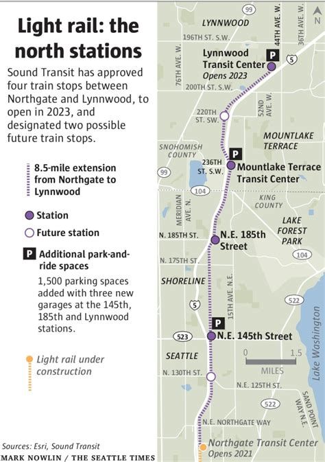 seattle map station 4 end light rail stations get sound transit s green