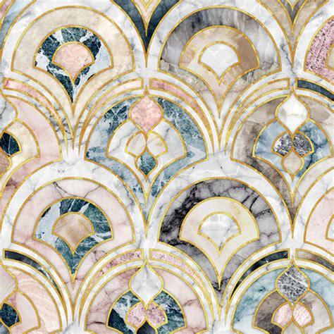 Marble art deco tiles in soft pastels giftwrap micklyn spoonflower