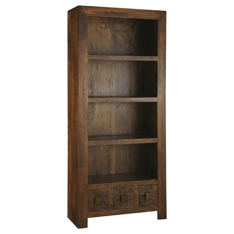 mango wood bookcase quarter solid wood furniture