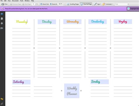 printable planner pdf 9 best images of weekly planner printable pdf weekly