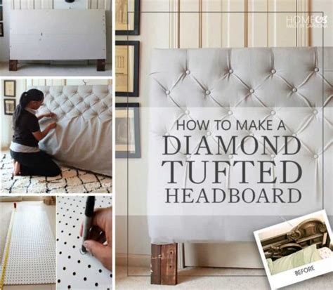 tufted headboard how to make diamond tufting ideas easy video tutorial the whoot