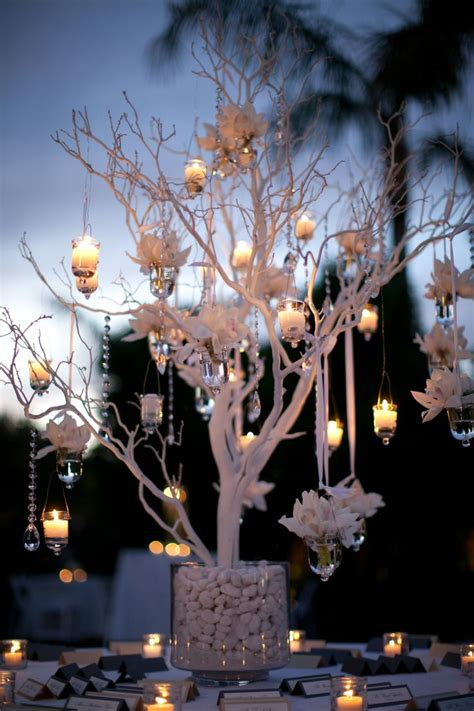 led branches centerpieces oversized manzanita branches in cylinders for accent pieces use led candles from branches