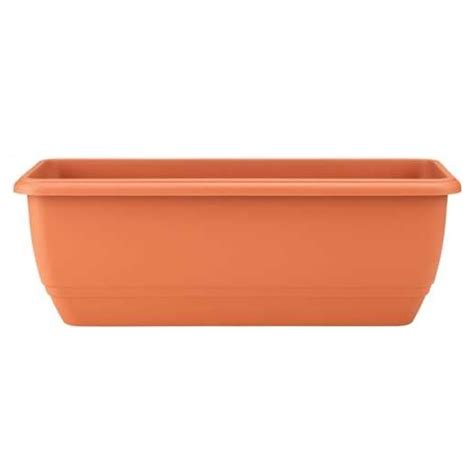 Lightweight Trough Planters by Self Watering Trough Terracotta 0 5m The Garden Factory