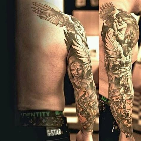 sleeve tattoos for men black and grey 36 black and grey sleeve tattoos