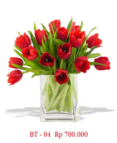 Buket Bunga Artificial Paket Sangkarvas Melamindekorasipajangan vas bunga tulip merah 2