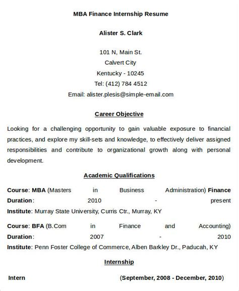 mba finance resume format doc 24 free finance resume templates pdf doc free premium templates