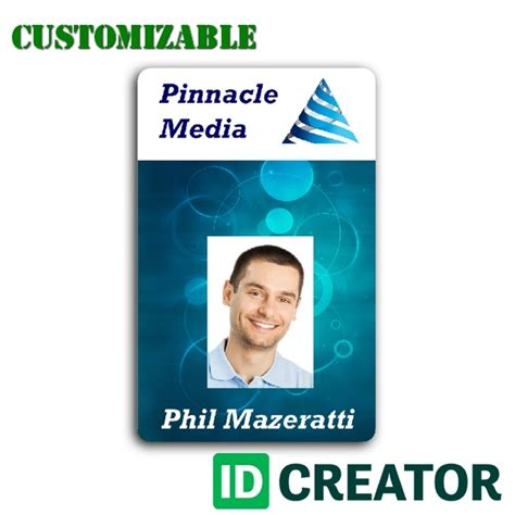 Professional And Customizable Employee Id From Idcreator Free Employee Badge Template